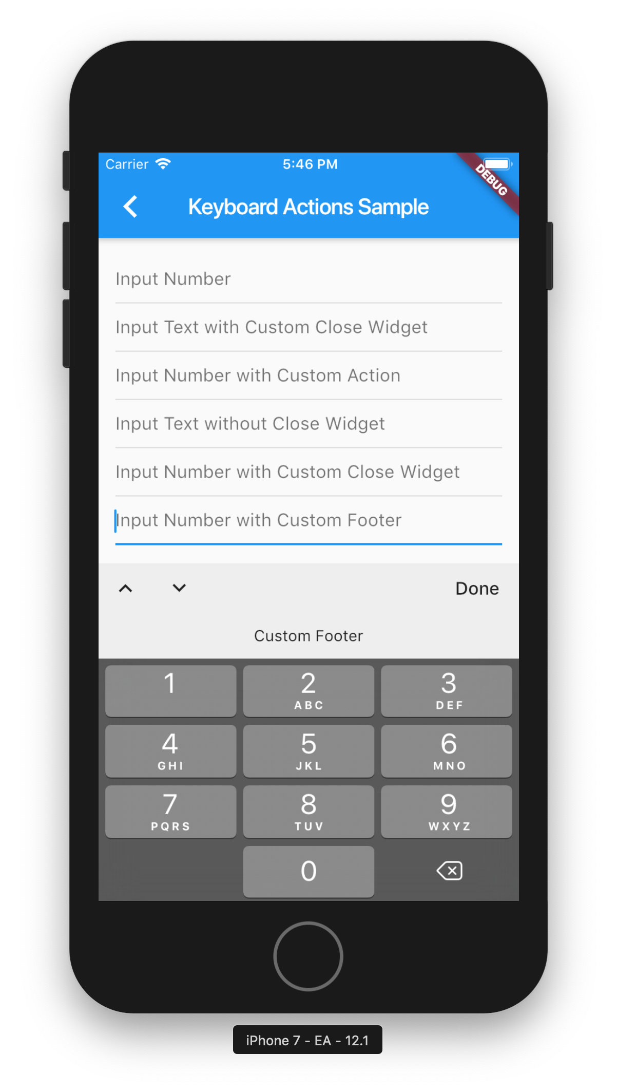 Flutter Add Feature to Keyboard