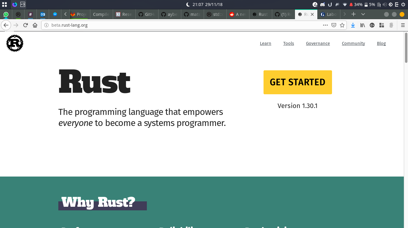 Rephrase slogan to include Rust's unique selling point(s