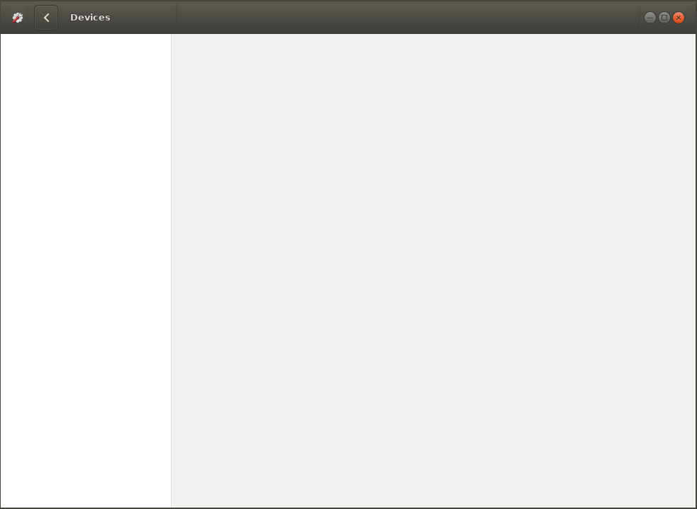 Ubuntu gnome-control-center stucks in empty