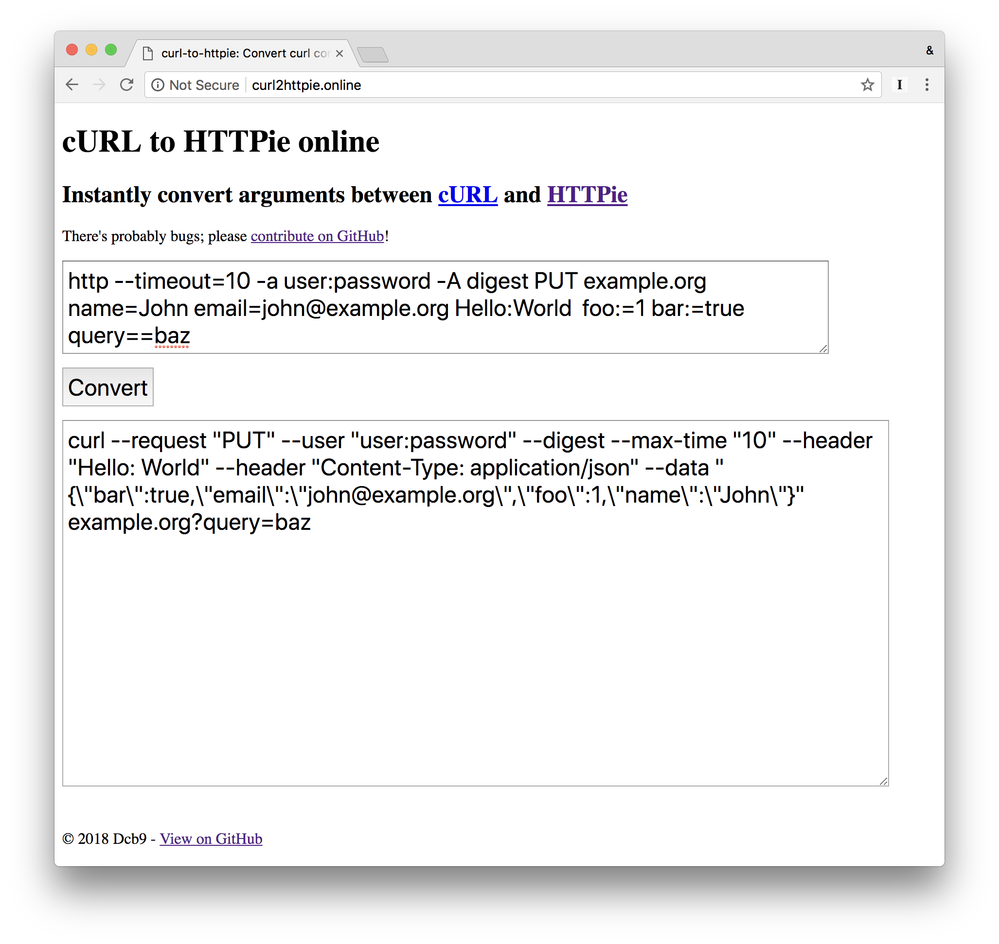 cURL output of HTTPie · Issue #325 · jakubroztocil/httpie · GitHub