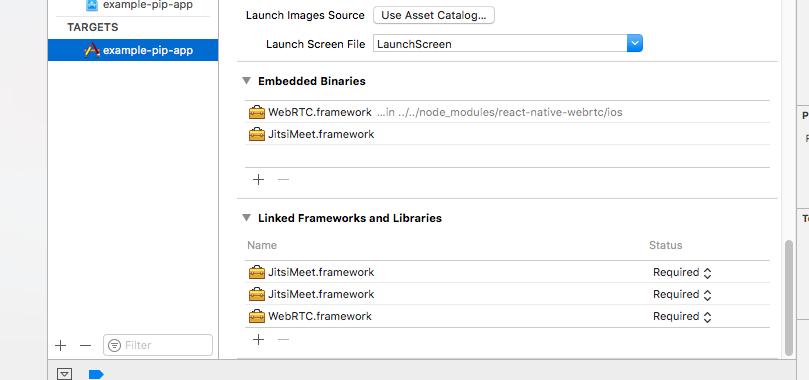 Library not loaded: @rpath/JitsiMeet framework/JitsiMeet