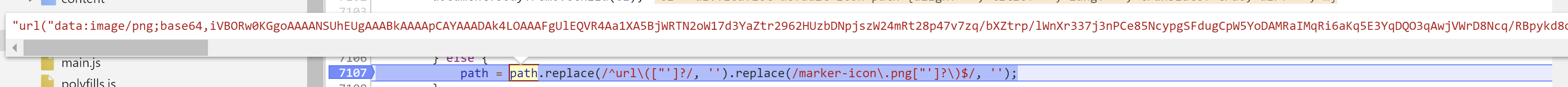 Default icon url is incorrectly replaced when using webpack · Issue