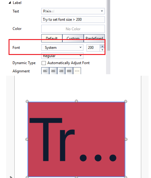 Storyboarddesigner doesnt allow to set font size bigger than 200 image ccuart Image collections
