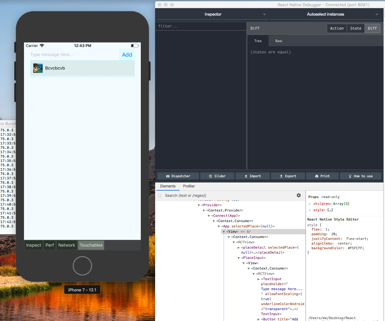React Native Style Editor - live editing not working · Issue