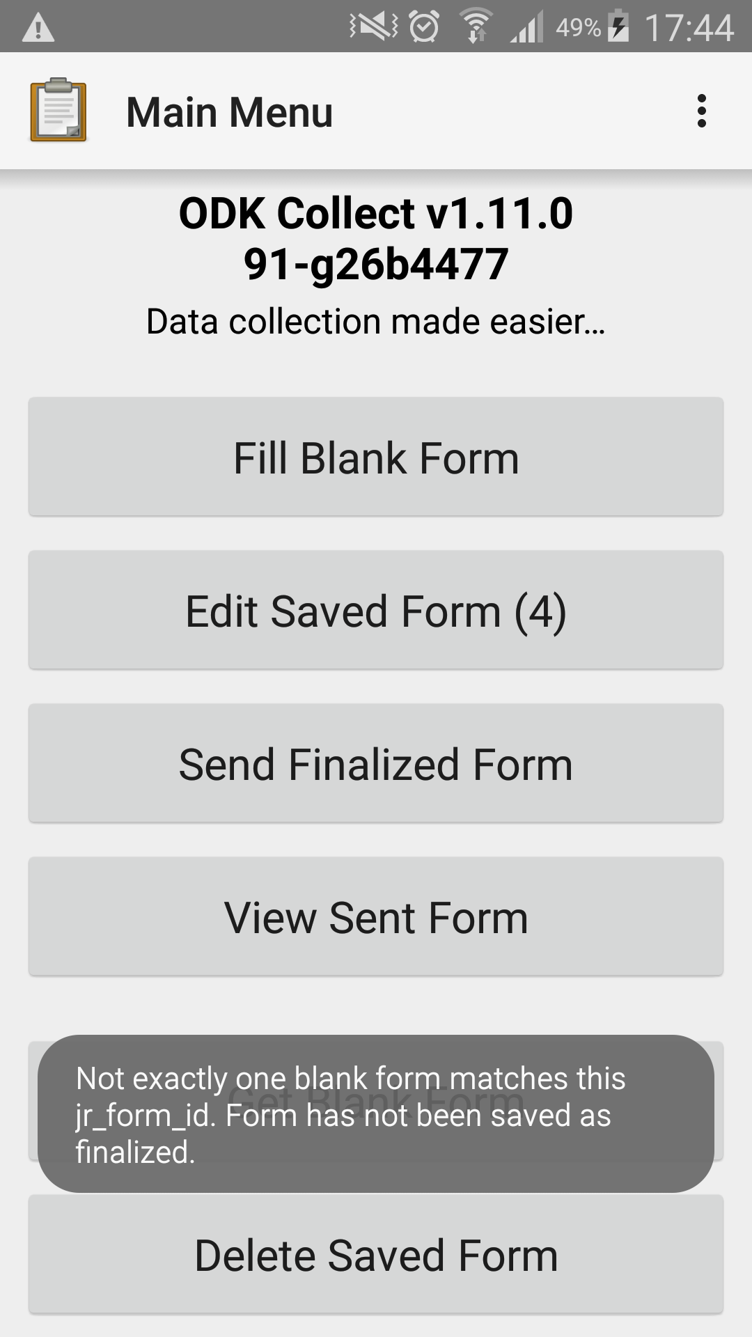 Problem with two forms with the same id and form version