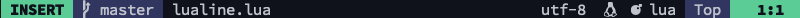 lualine insert mode screenshot