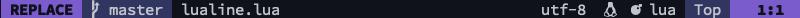 lualine replace mode screenshot