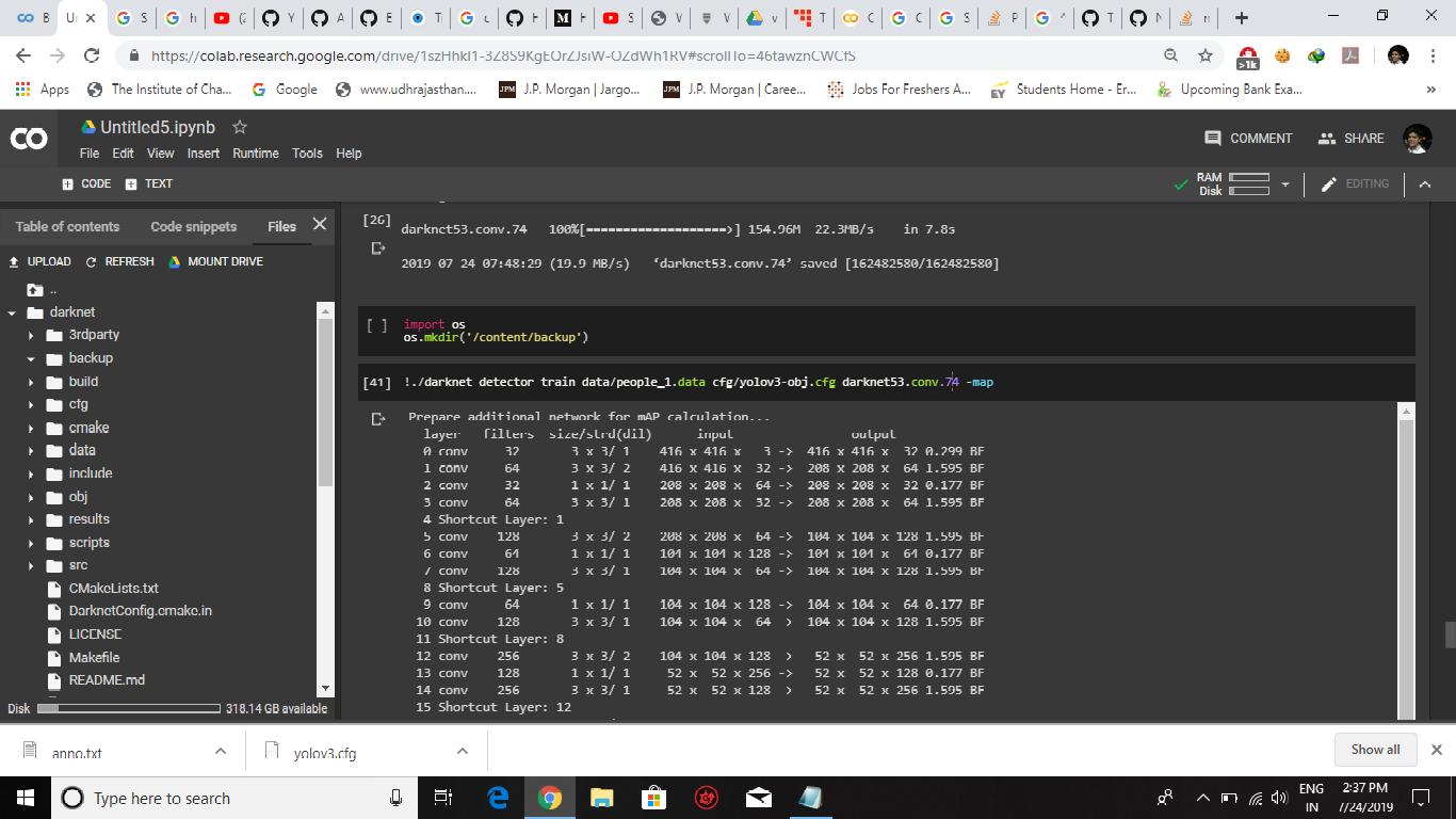 Yolov3 training not starting on custom dataset · Issue #1736