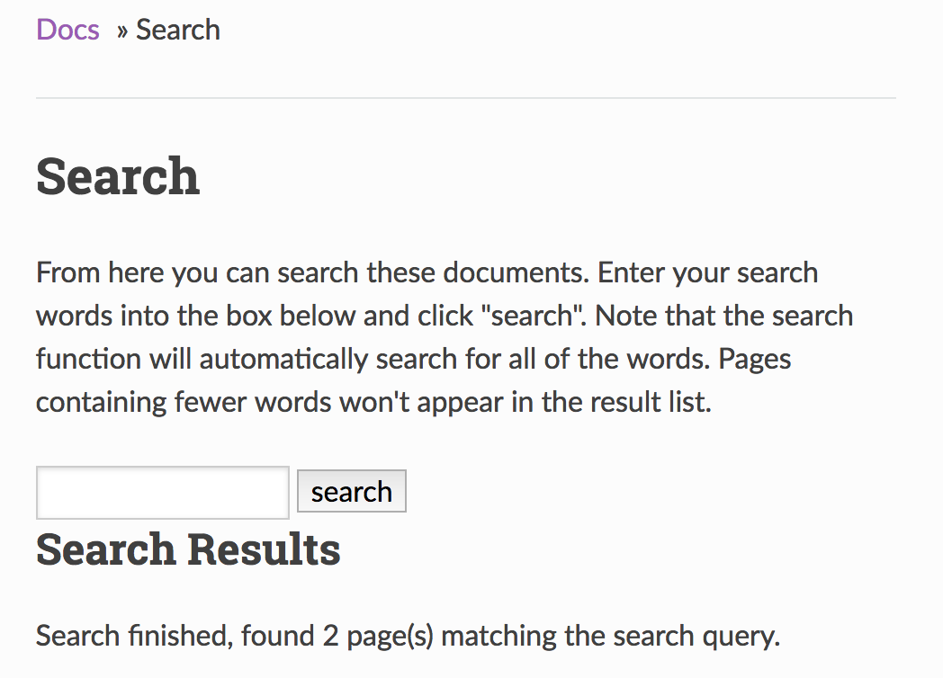 search refactored