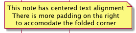 note padding