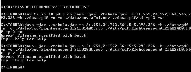 Batch processing on windows? · Issue #190 · tabulapdf/tabula-java