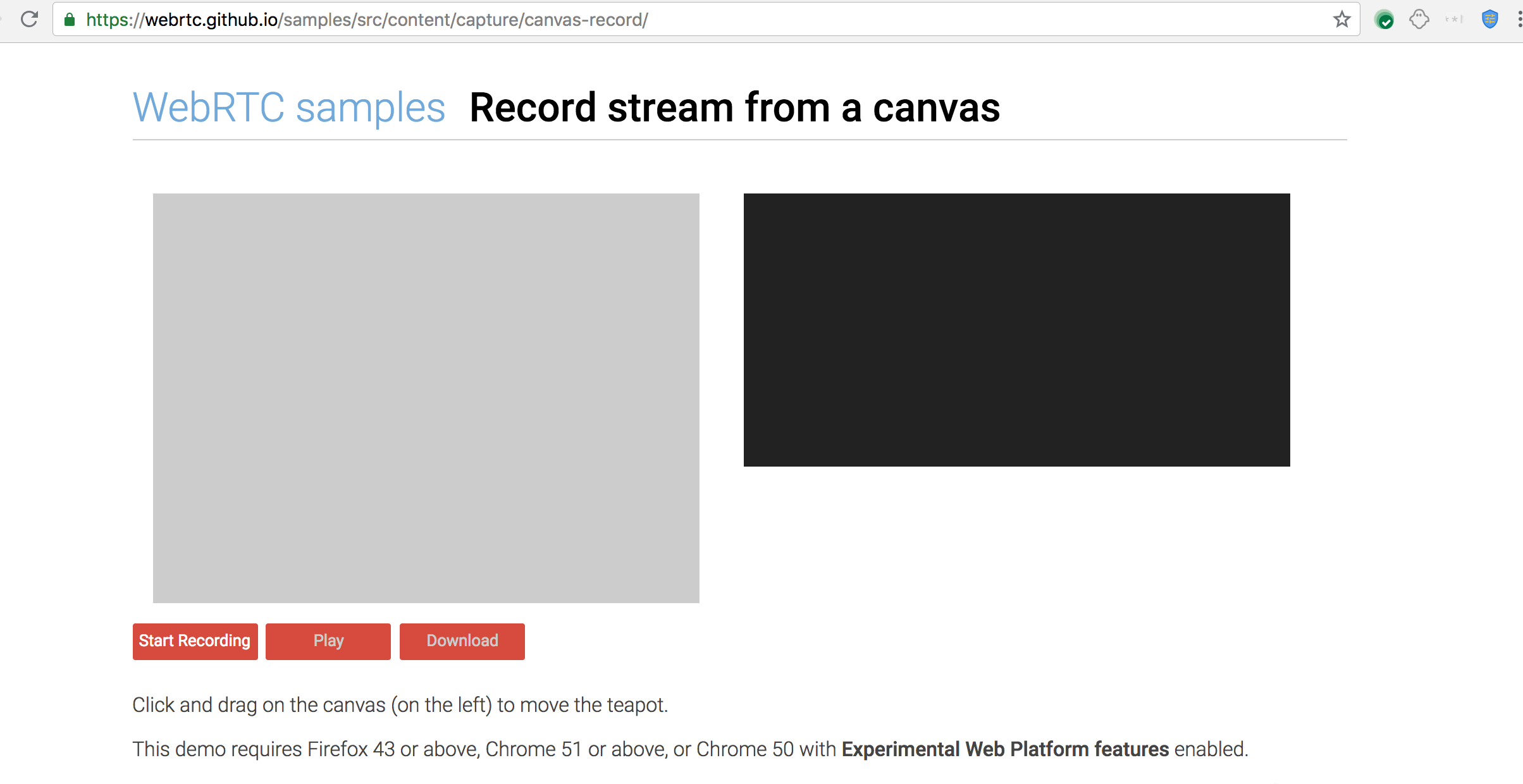 All Canvas tests fails  · Issue #1099 · webrtc/samples · GitHub