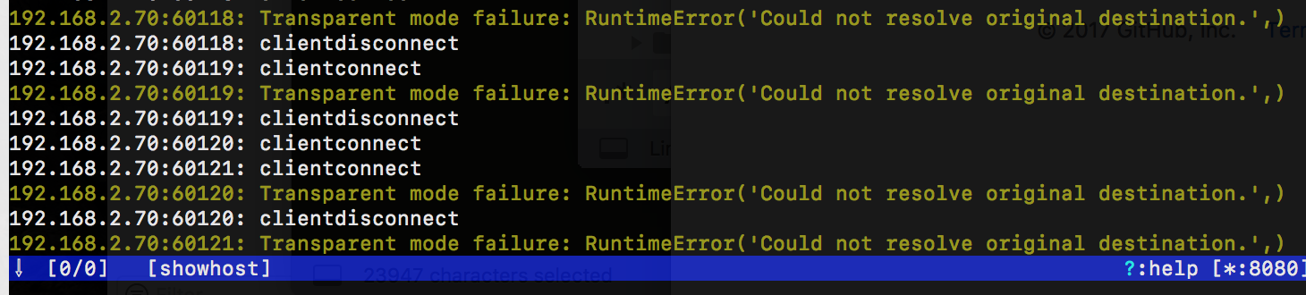 Transparent mode failure: Runtime Error (could not resolve