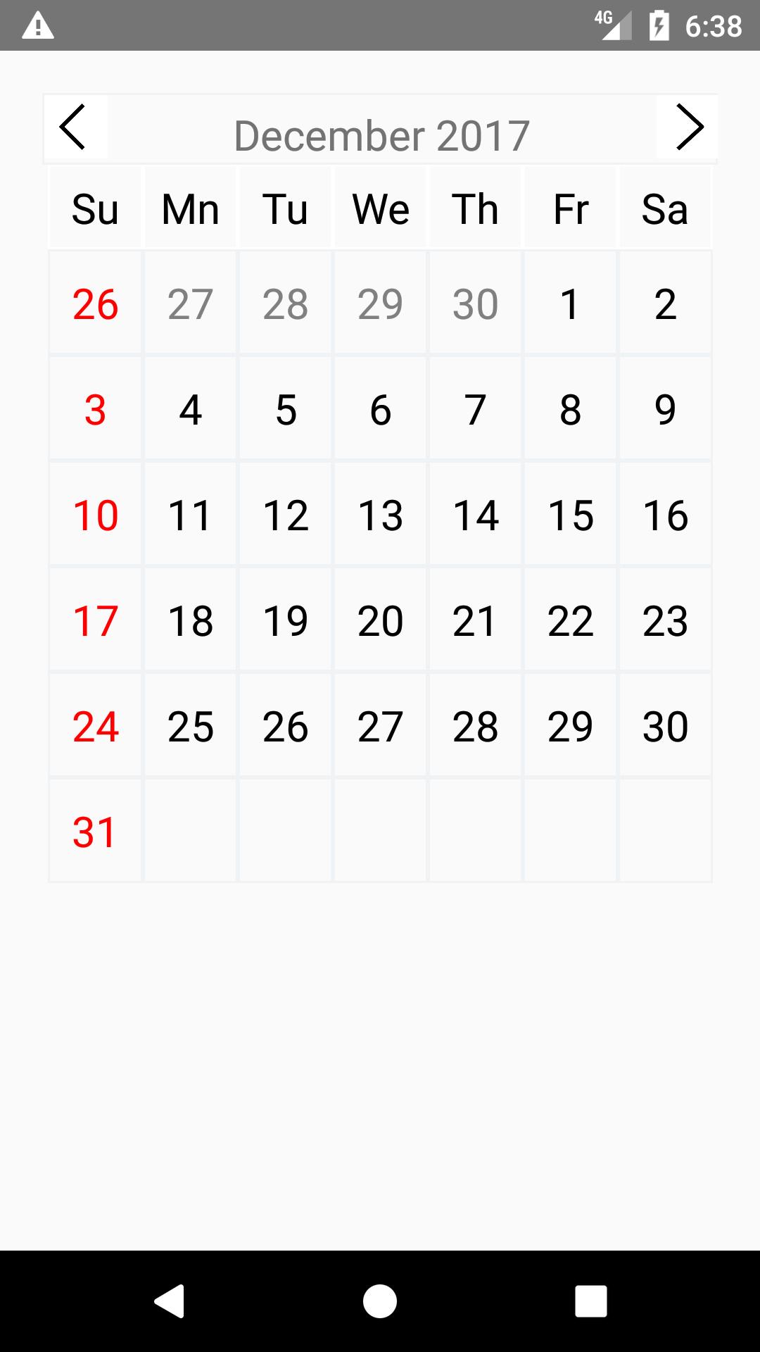 Package - react-native-calendar-date-picker