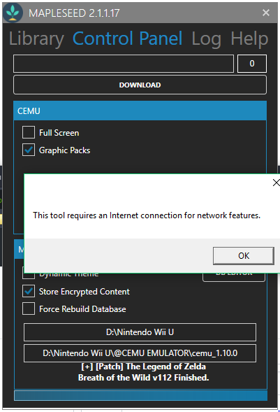 Error: this tool requires network connection · Issue #132 · Tsume