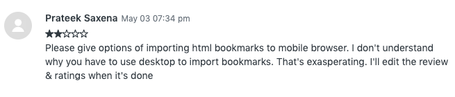 Feature Request: Allow regular Import/Export option for bookmarks