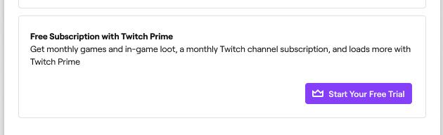 Sub gratis com Twitch Prime