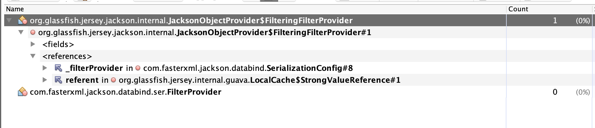 SerializerProvider has no FilterProvider but retrieves a