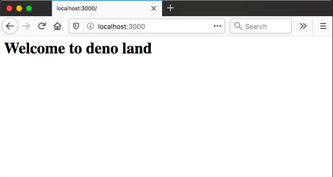 deno server is running
