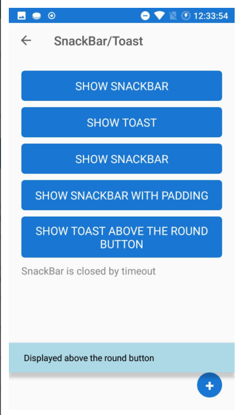Anchored Toast