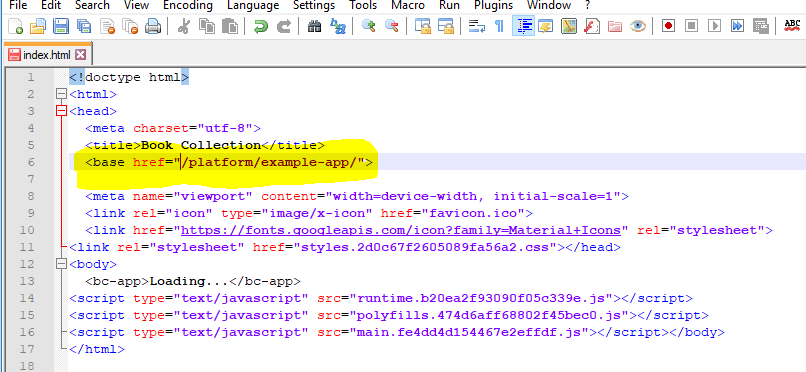 Example App Prod artifacts are not working with Http-Server