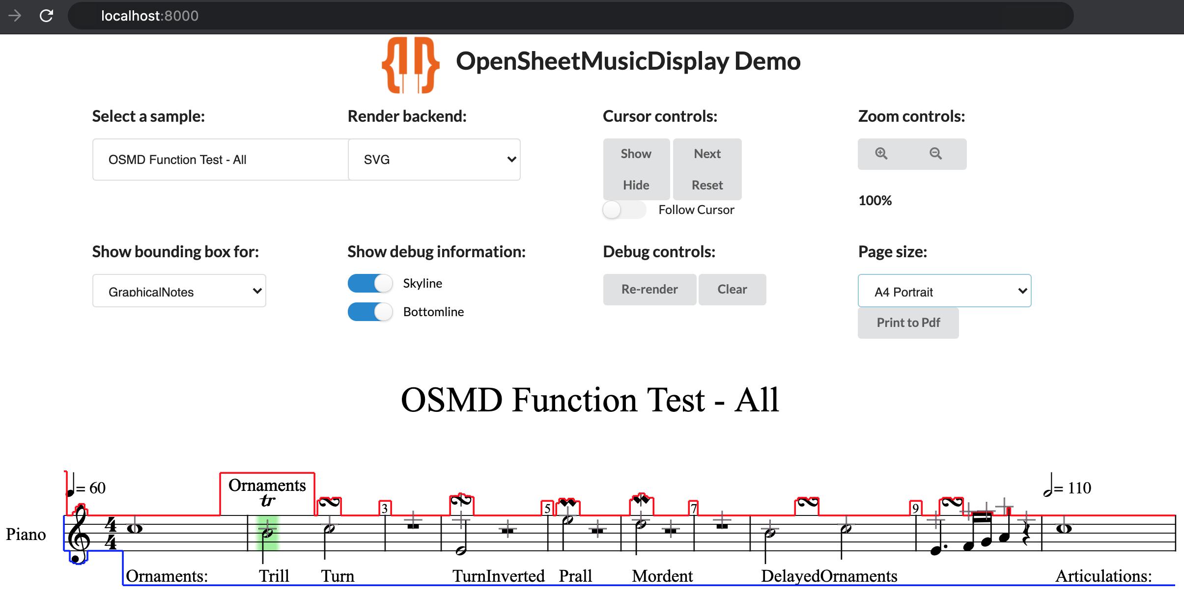 Local OSMD Developer Demo
