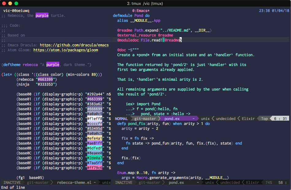 GitHub - vic/rebecca-theme: The purple turtle theme for Spacemacs