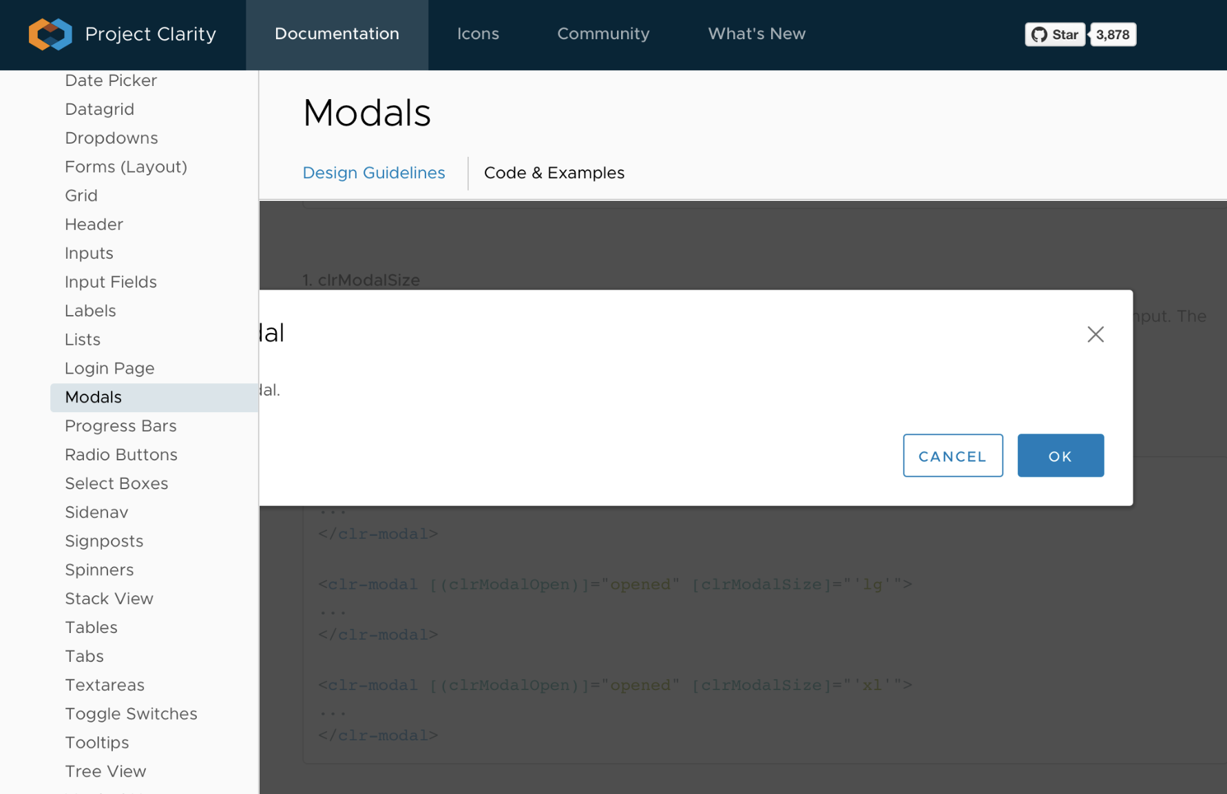 Modal cropped when inside StackView [Chrome] · Issue #251