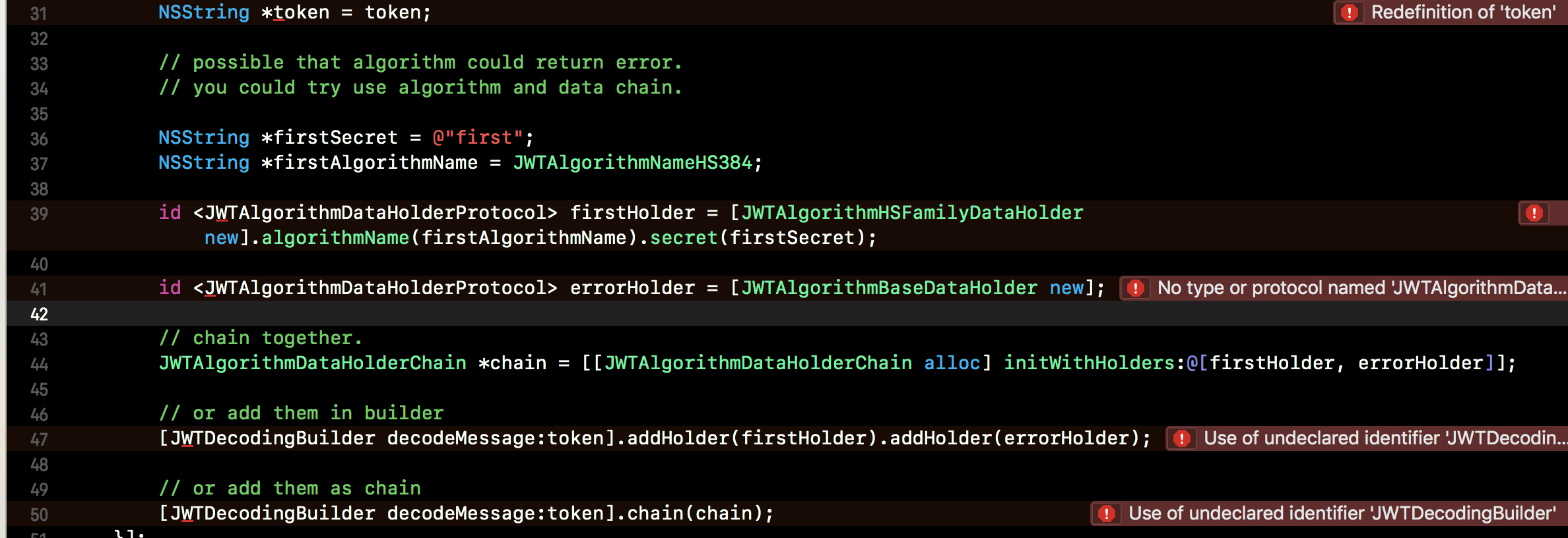 Objective-C中的JSON Web令牌实现 - Swift开发 - 评论 | CTOLib码库