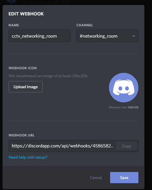 Call discord webhook? · Issue #1557 · ccrisan/motioneyeos · GitHub