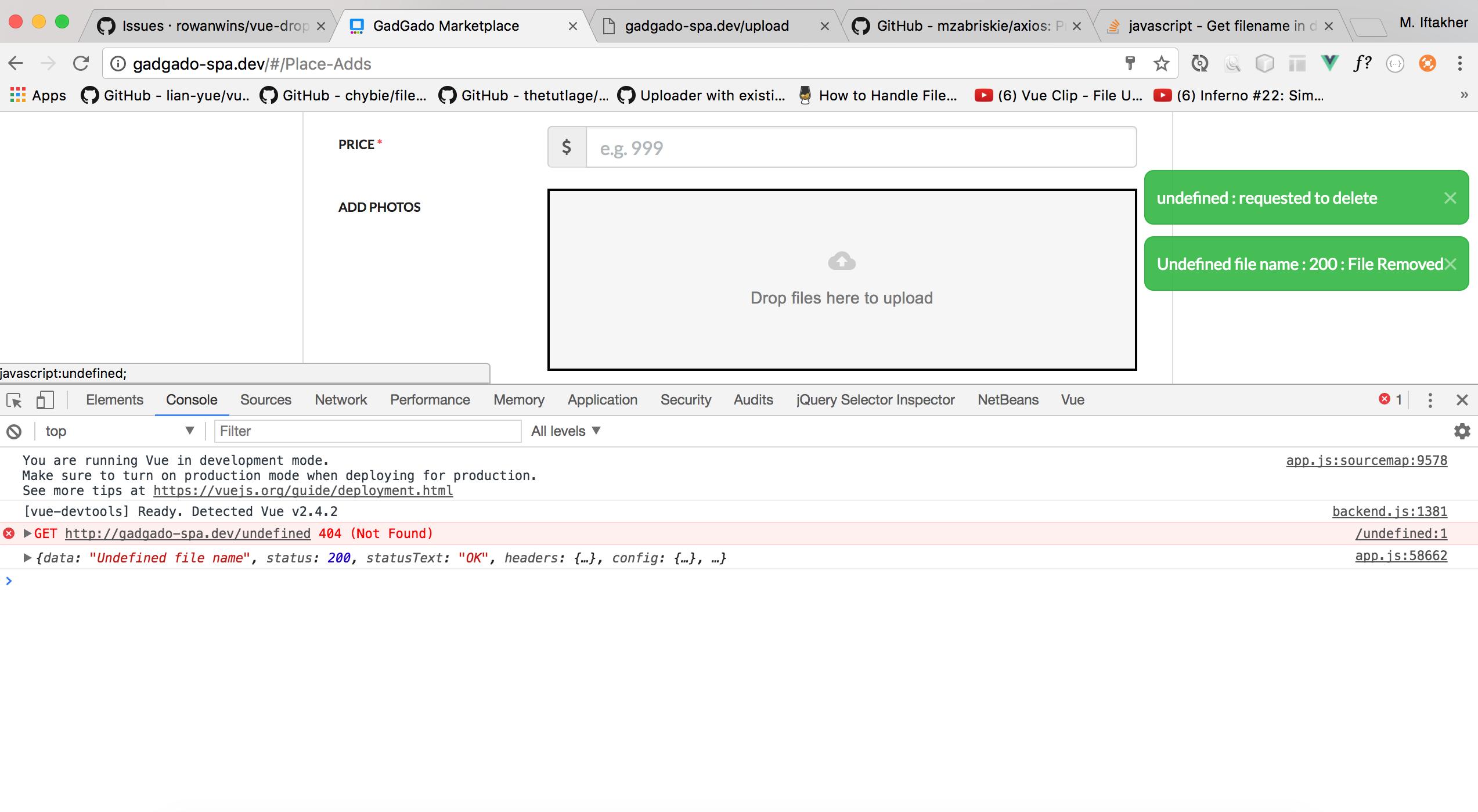 Remove file · Issue #175 · rowanwins/vue-dropzone · GitHub