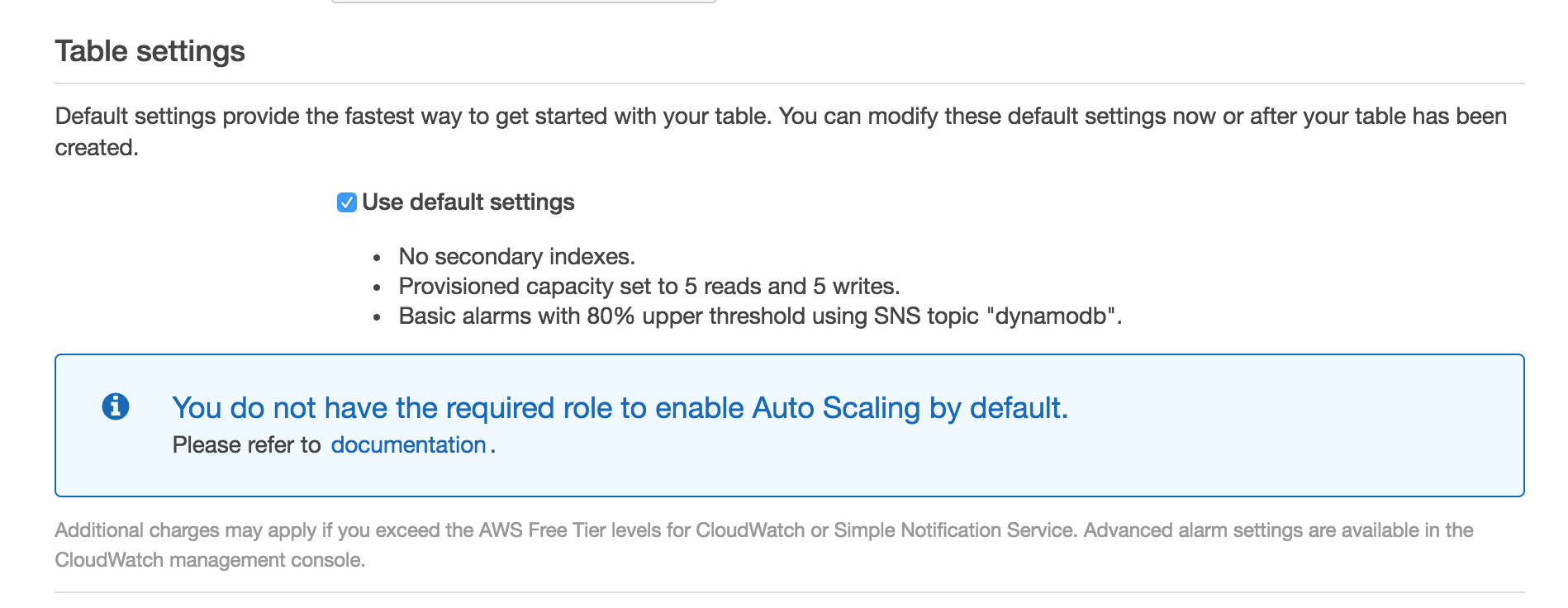 Comments: Create a DynamoDB Table · Issue #15
