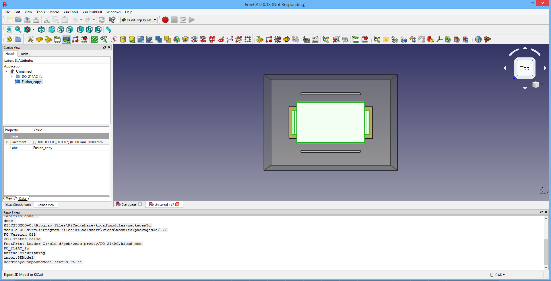 FreeCAD 0 18 freezes after clicking
