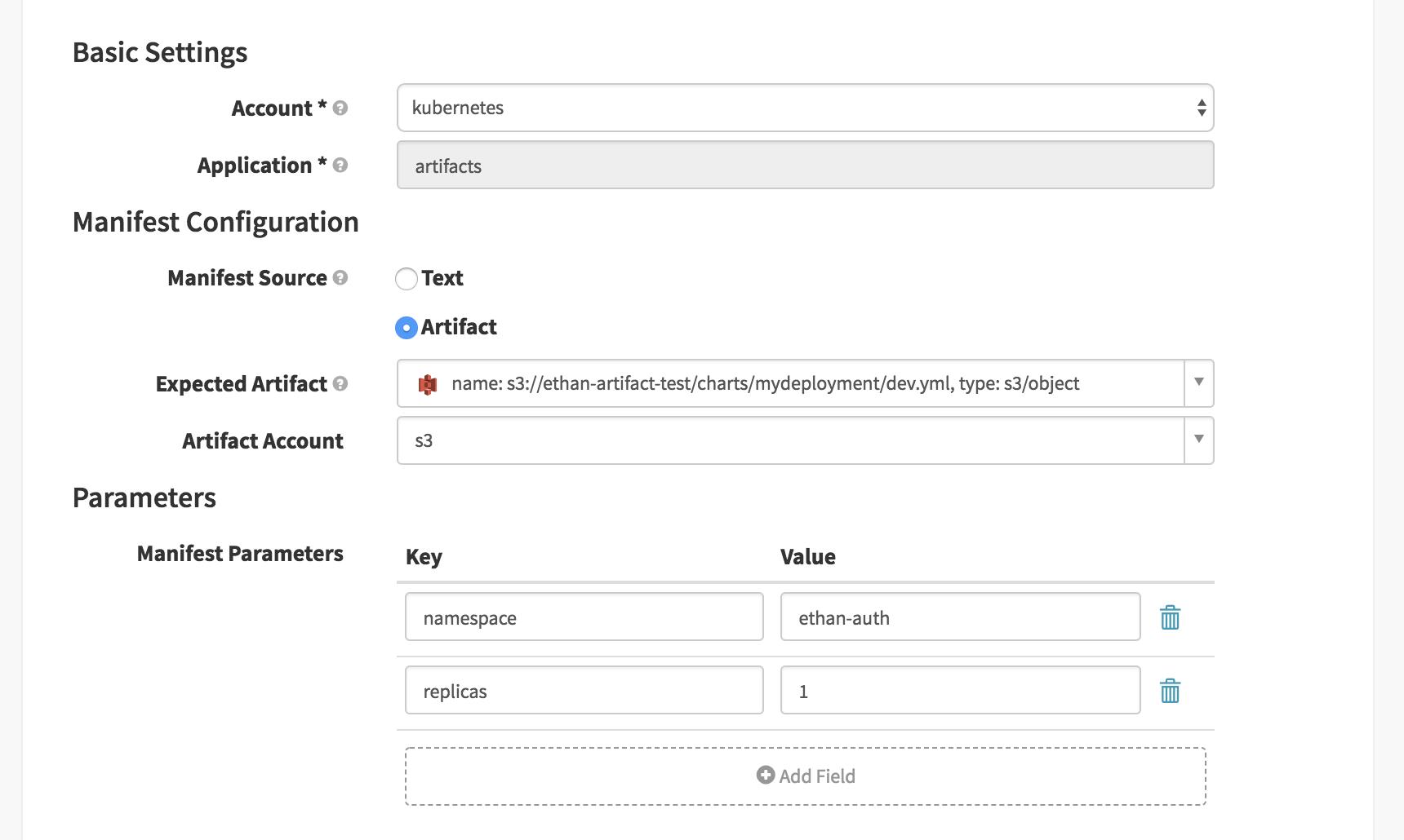 Kubernetes V2] Add namespace option for deployManifest · Issue #2831