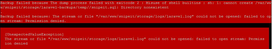 Storage Logs Laravel Could Not Be Opened Failed To Open