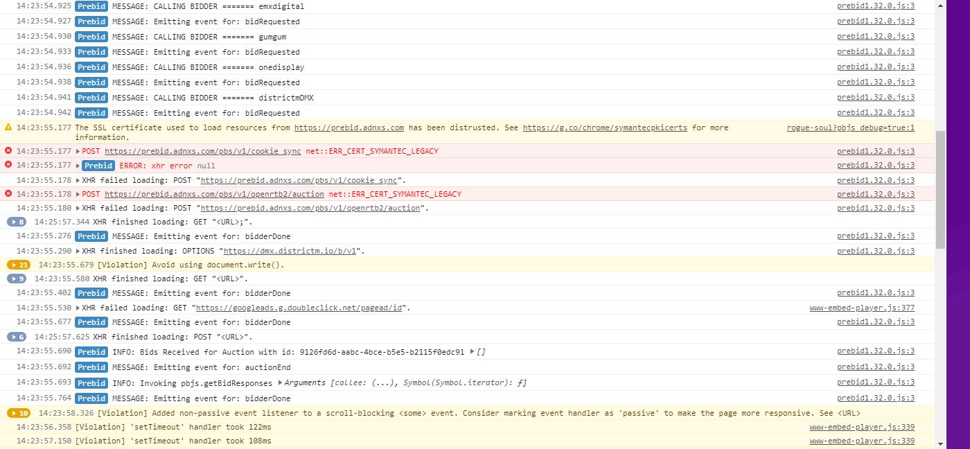 net::ERR_CERT_SYMANTEC_LEGACY - Appnexus Prebid Server · Issue #3299