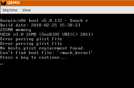 Can't boot vmdk - Can't find boot file /mach_kernel · Issue