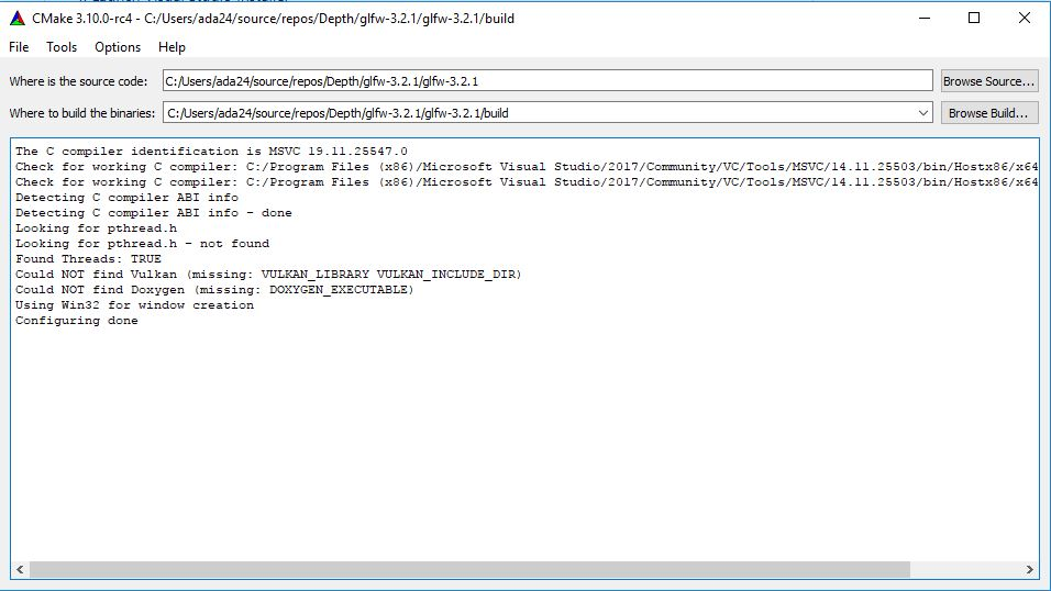 use of open GL in visual studio with the help of cmake
