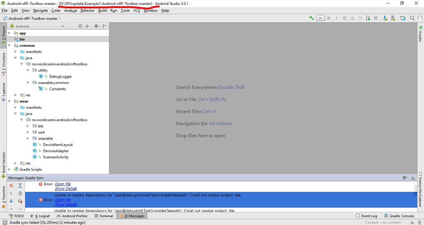 Module Not Defined · Issue #41 · NordicSemiconductor/Android