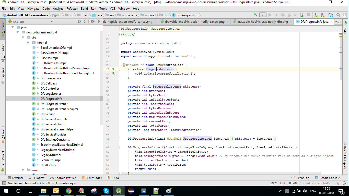 Unable to Run in android Studio · Issue #91 · NordicSemiconductor
