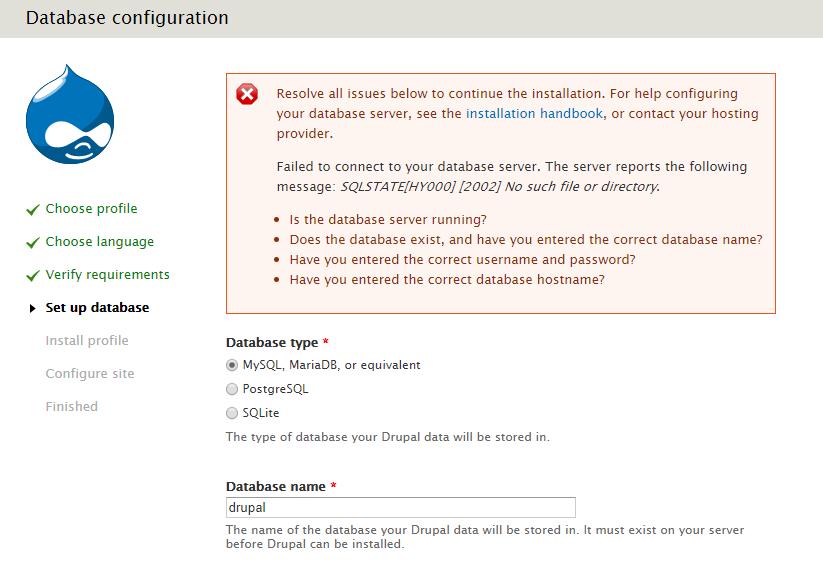 MariaDB doesn't work  · Issue #206 · wodby/docker4drupal
