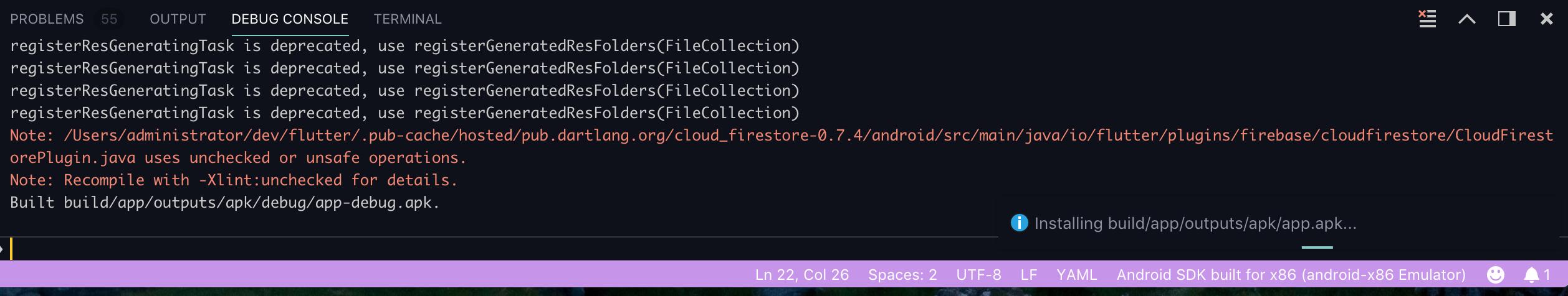 Firebase For Flutter Execution failed for task ':app
