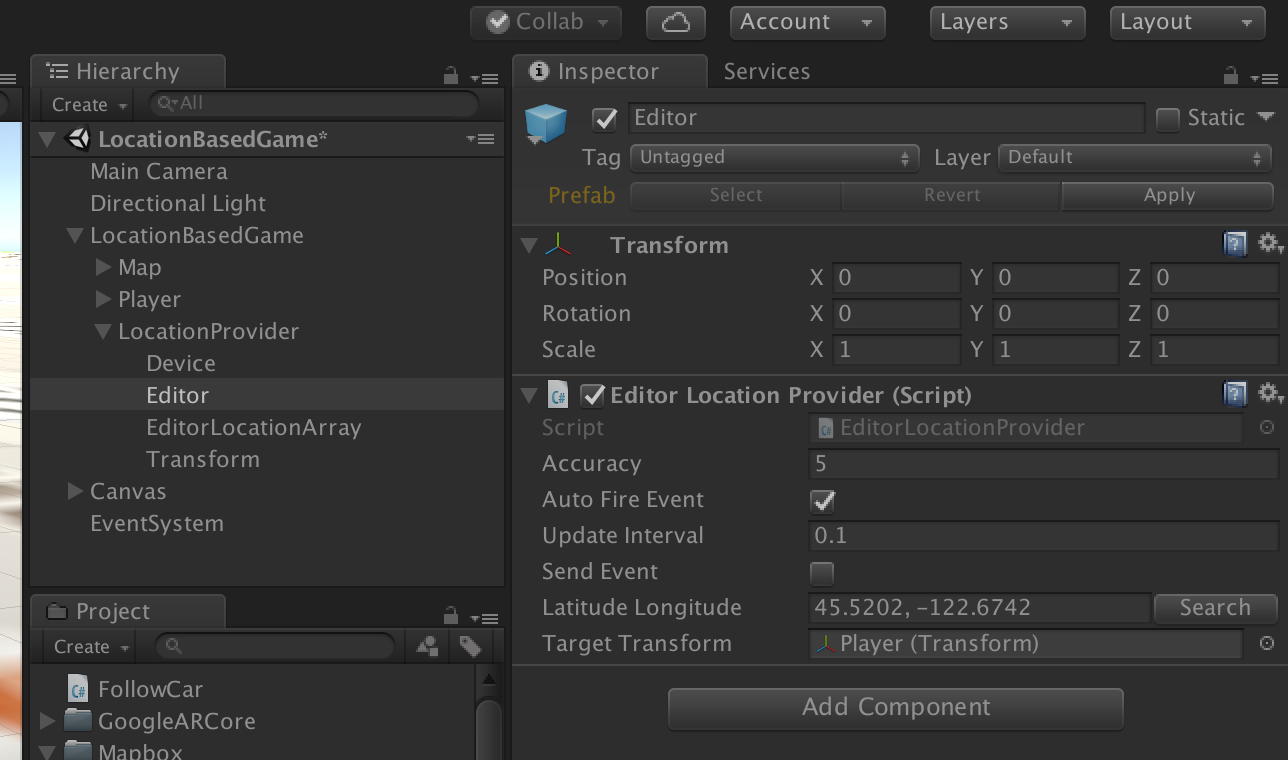 Can't update location in Unity Inspector during runtime · Issue #751