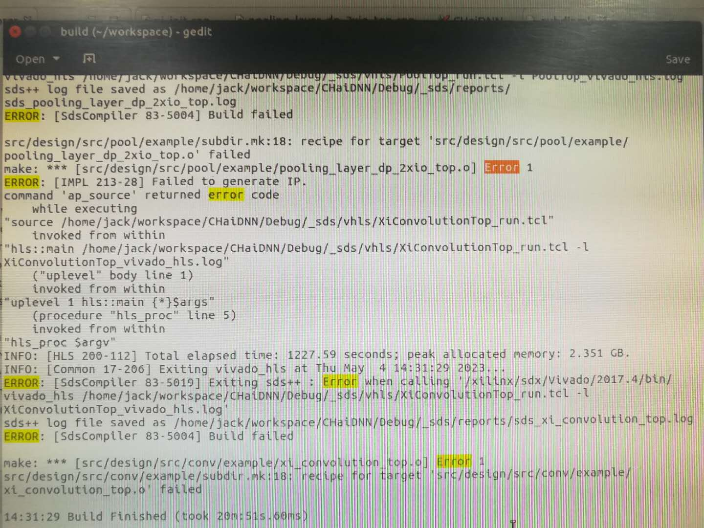 Problem while building src in SDx · Issue #12 · Xilinx