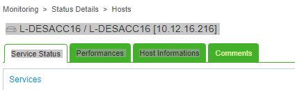 Host status page: Headline invisible while host pending · Issue