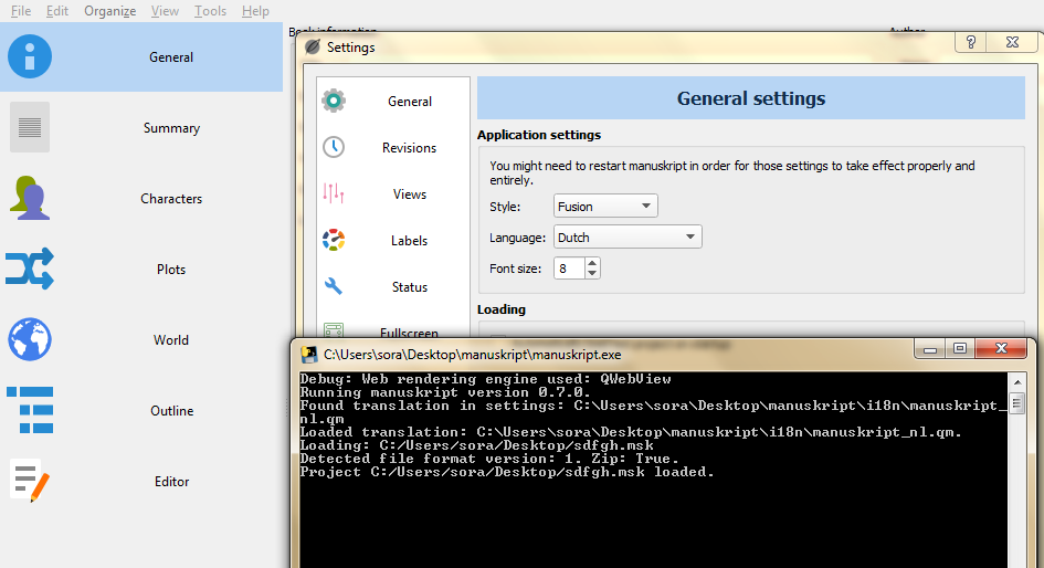 Application language still the same after changing it in the