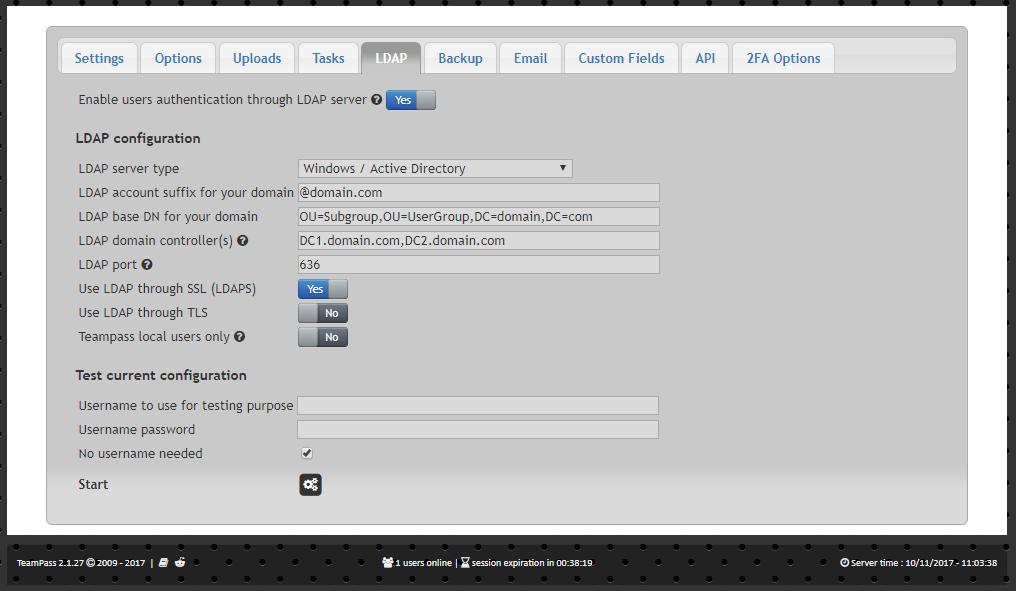 LDAP Integration -