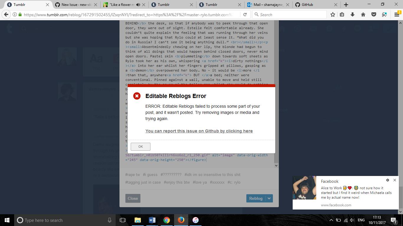 Editable Reblogs post error · Issue #1470 · new-xkit/XKit · GitHub