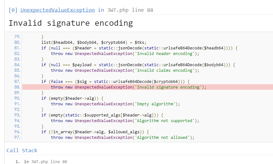 Invalid signature encoding · Issue #242 · firebase/php-jwt