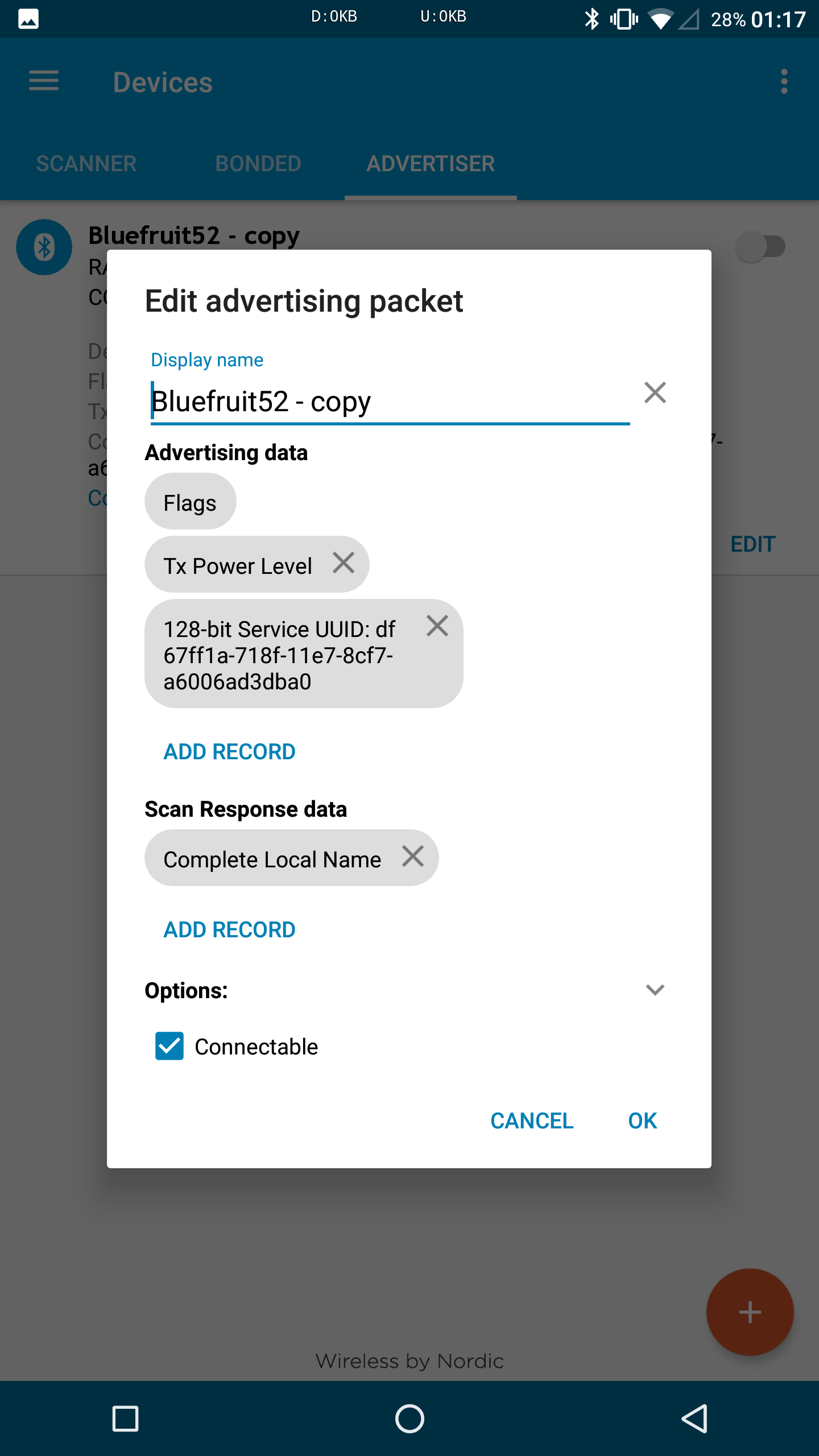 BLE beacon advertising service UUID · Issue #195 · nkolban